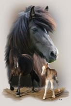 Maltechnik Pferde